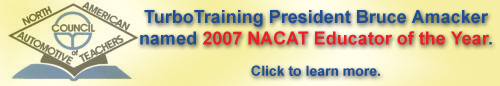 TurboTraining's Bruce Amacker has been named the 2007 NACAT Educator of the Year
